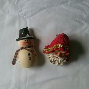 Vintage handcrafted Christmas Winter Pins